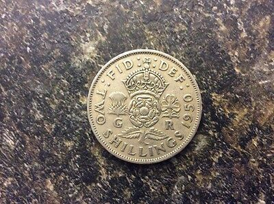 Great Britain Two Shilling Coin 1950