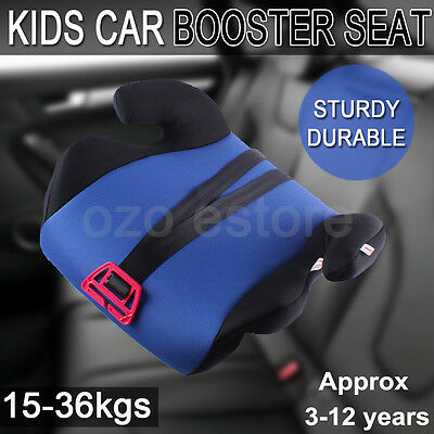 Car Booster Seat  Safe Sturdy Baby Child Kid Children Fit 3 To 12 Years Blue AU