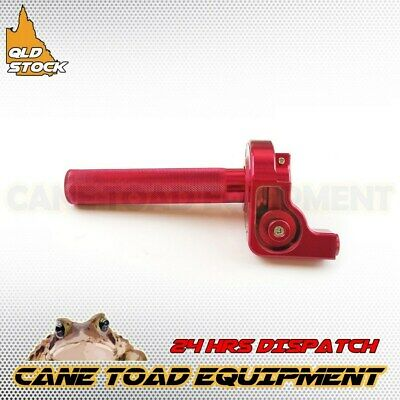 Cnc Red Throttle 1/4 Quick Turn Twist Housing Grip Pit Pro Trail Dirt