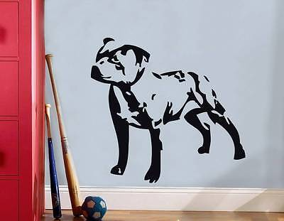 DOG STAFFORDSHIRE STAFF PITBULL Decal WALL STICKER Art Home Decor Stencil SST016