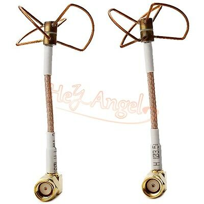 1Pair FPV Circular Polarized Clover Omni-Directional Antenna Video/Audio 5.8GHz