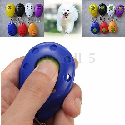 Training Clicker Obedience Aid Wrist Click Button Trainer For Pet Dog Puppy Cat
