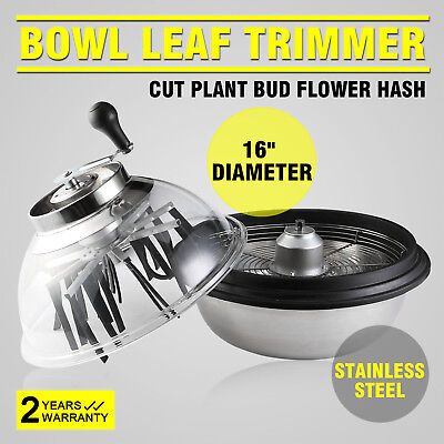 "Hydroponics Trimmer Bowl Leaf Spin Pro Tumble Bud Machine Cutter 16"" Uk Stock"