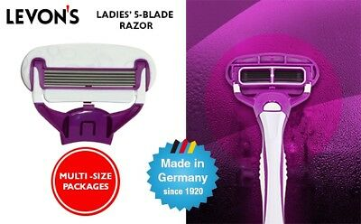 LEVON'S Ladies' 5-Blade Shaver Razor - Cartridge Refill Pack