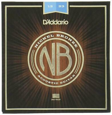 D'Addario Nickel Bronze Acoustic Guitar Strings,Light 12 - 53  NB1253
