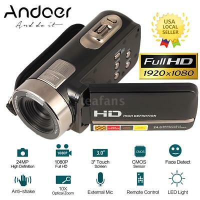 """FULL HD 1080P 24MP 3""""LCD Touch Screen 16X ZOOM Digital Video Camera Camcorder DV"""