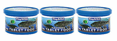 King British Plecostomus Tablet Food 60g 3 Pack Deal