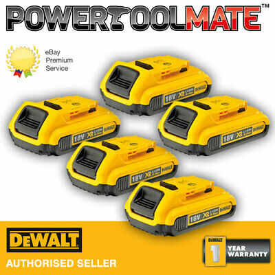 Genuine DeWalt DCB183 18v 2.0Ah Battery Li-Ion XR - *FIVE PACK*
