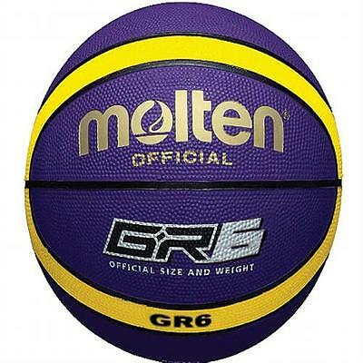 Molten BGR6-VY Rubber Series Fiba Approved Top Quality 12 Panel Basketball
