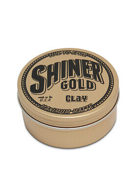 Shiner Gold Matte Clay Pomade Mens Hair Styling Product 4oz / 113g Container