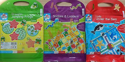 Magnetic Travel Board Games 3 Designs Childrens Travel Ludo Snakes & Ladders