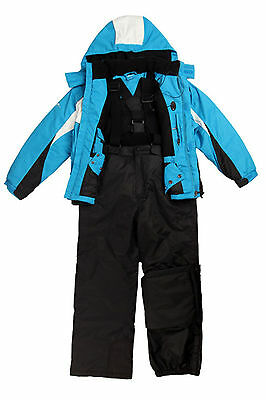 Big Kids Boys Ski/Snow Suit Jacket/Pants Blue/Red/Yellow SZ7-14 Waterproof