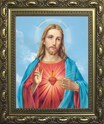 The Sacred Heart Of Jesus Picture Gold Decorative Moulded Frame Others Listed