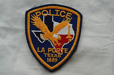 Us river oaks texas police patch obsolete picclick for Laporte tx police dept