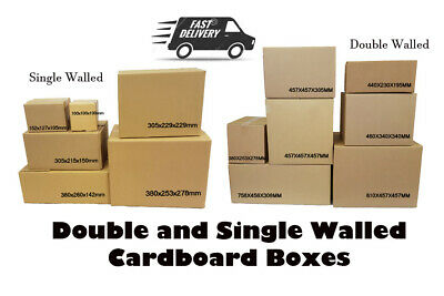 Moving Boxes High Quality SINGLE DOUBLE Wall Cardboard Boxes *Various Sizes*