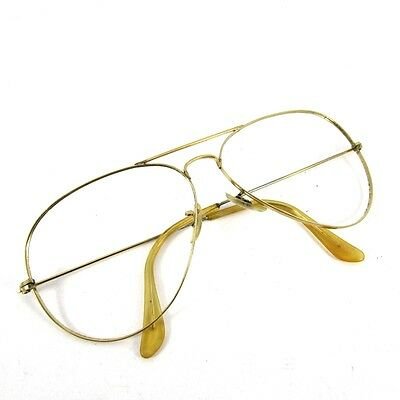 1970s VINTAGE BAUSCH & LOMB RAY BAN AVIATOR EYEGLASSES FRAME SIZE 62-14 U.S.A.