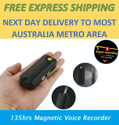 Covert Audio Recorder & LED Light with Long Life Battery Voice Activated No Spy