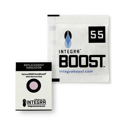 100 Pack Integra Boost RH 55% 8 gram Humidity 2 Way Control Humidor Pack
