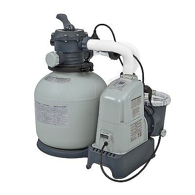 New Intex 120V Krystal Sand Filter Pump & Saltwater System CG-28675 -with E.C.O.
