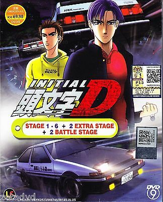DVD Japan Anime Initial D Stage 1 - 6 + 2 Battle Stage + 2 Extra Stage DVD
