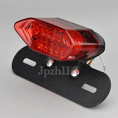20 LED Red Motorcycle Tail Turn Signal Brake License Plate Integrated Light #Y5