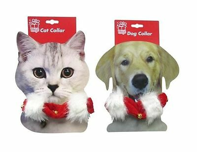Pet Collar With Plush Trim And Bell Available For Cats Or Dogs