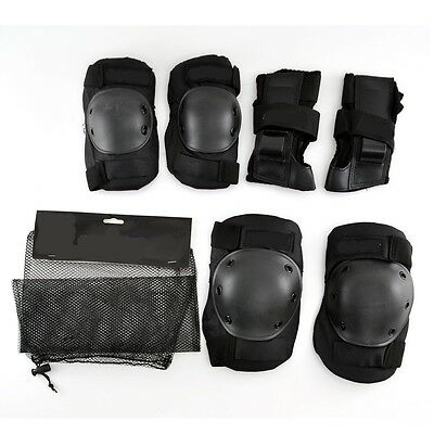 Protective Knee Elbow Wrist Pads Set Skateboard Skate Scooter Quad BMX - Adult