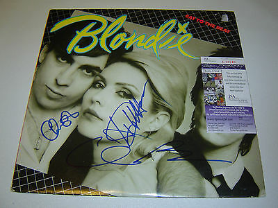 Blondie Signed Band LP Vinyl Sleeve Record ''Eat To The Beat'' COA JSA