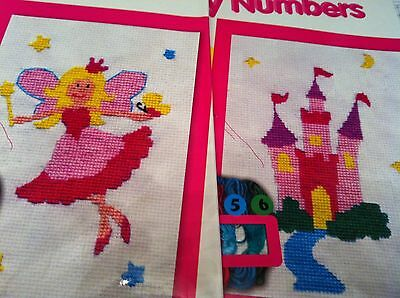 Kids Cross Stitch Kit, embroidery by numbers age 8 + x stitch childrens crafts