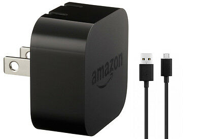 OEM Amazon Kindle Power USB Adapter Wall Travel Charger Fire/DX/+Micro USB cable