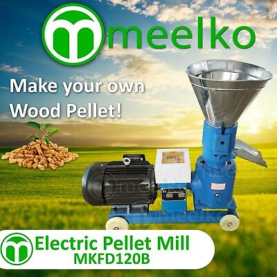PELLET MILL 4HP 3KW ELECTRIC US Stock (8 mm die for wood)