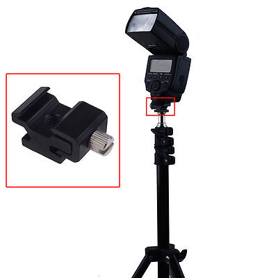 """Neewer Metal Hot Shoe Flash Stand Adapter with 1/4"""" -inch -20 Tripod Screw USA"""