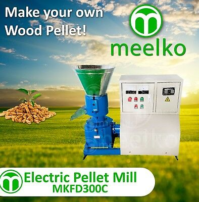 PELLET MILL 22kw  ELECTRIC ENGINE PELLET PRESS 3 PHASE USA STOCK (6mm wood)