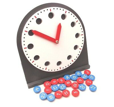 NEW Montessori Mathematics Material- WOODEN Clock with Movable Hands (TELL TIME)