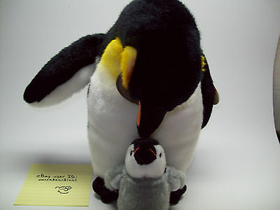 "Yomiko Classics Mommy & Baby Penguin 11"" Plush New! Ships Fast!"