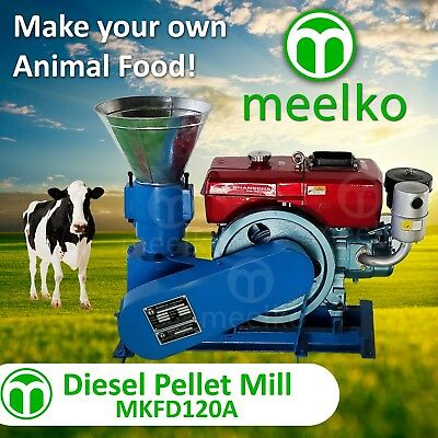 PELLET MILL 8 HP DIESEL ENGINE MIAMI USA SHIPPING (6mm cow)