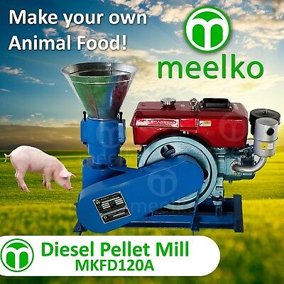 PELLET MILL 8 HP DIESEL ENGINE MIAMI USA SHIPPING (6mm pork)