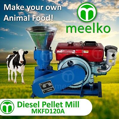 PELLET MILL 8 HP DIESEL ENGINE MIAMI USA SHIPPING (8mm cow food)
