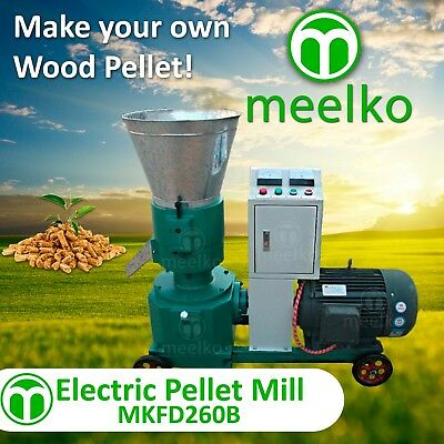 """PELLET MILL 15kw  ELECTRIC ENGINE 10"""" DIE 3 PHASE USA STOCK (8mm WOOD)"""