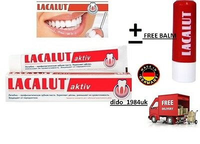 LACALUT AKTIV Activ Toothpaste 75ML Stops Bleeding Gums