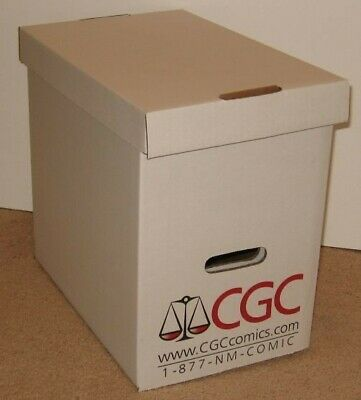 5 Official CGC Graded Magazine Slab Corrugated Cardboard Storage Boxes box