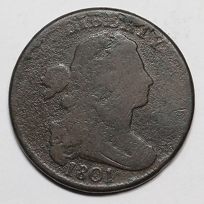 1801 S-223 1/000 Draped Bust Large Cent Coin 1c