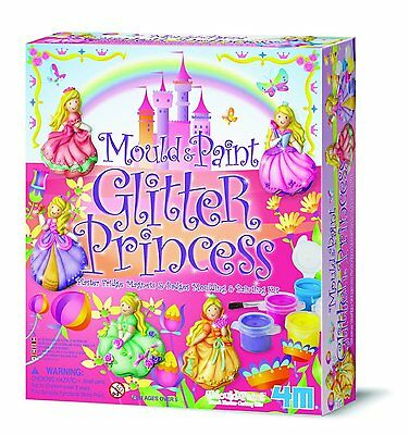 4M Mould and Paint Glitter Princess Craft Kit - Educational