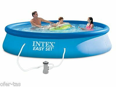 PISCINA HINCHABLE INTEX EASY SET 28142NP 396x84 cm (CON DEPURADORA)