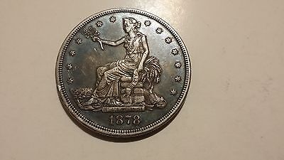 1878 S US Trade Silver Dollar