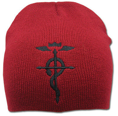 **License** Fullmetal Alchemist Flamel Cross Knit Beanie Headwear Cap Hat #2379