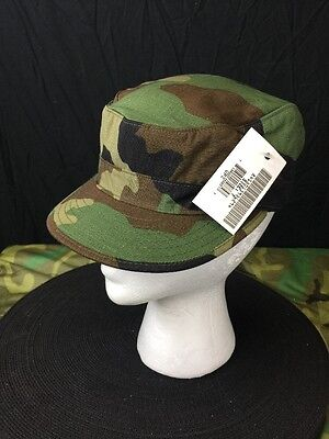Us Military Army Bdu Cap Hat Woodland Camouflage New Size 6 3/8  8415013937813