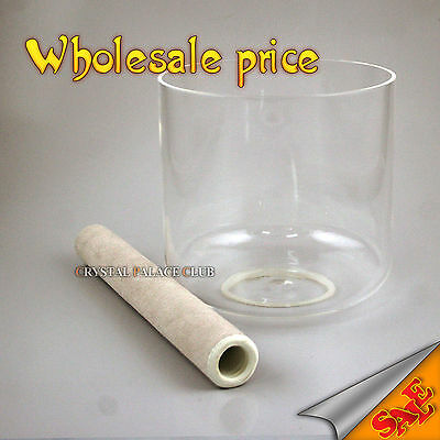 "clear pure crystal singing bowl 7"" perfect B or A or A# 3th octave deep tones"