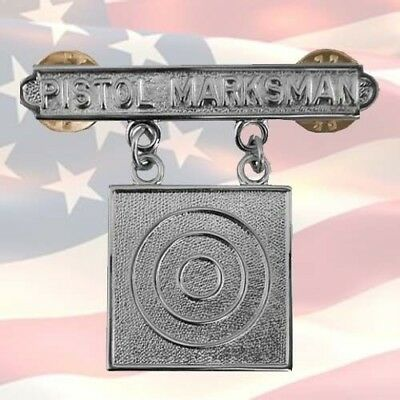 U.s. Marine Corps Pistol Marksman Qualification Badge | Combat |Usmc
