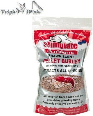 1 Kg of Stimulate Prawn Scented Berley Pellets - Ultrabite -Attracts all Species